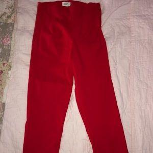 NWOT Unique Vintage red capris